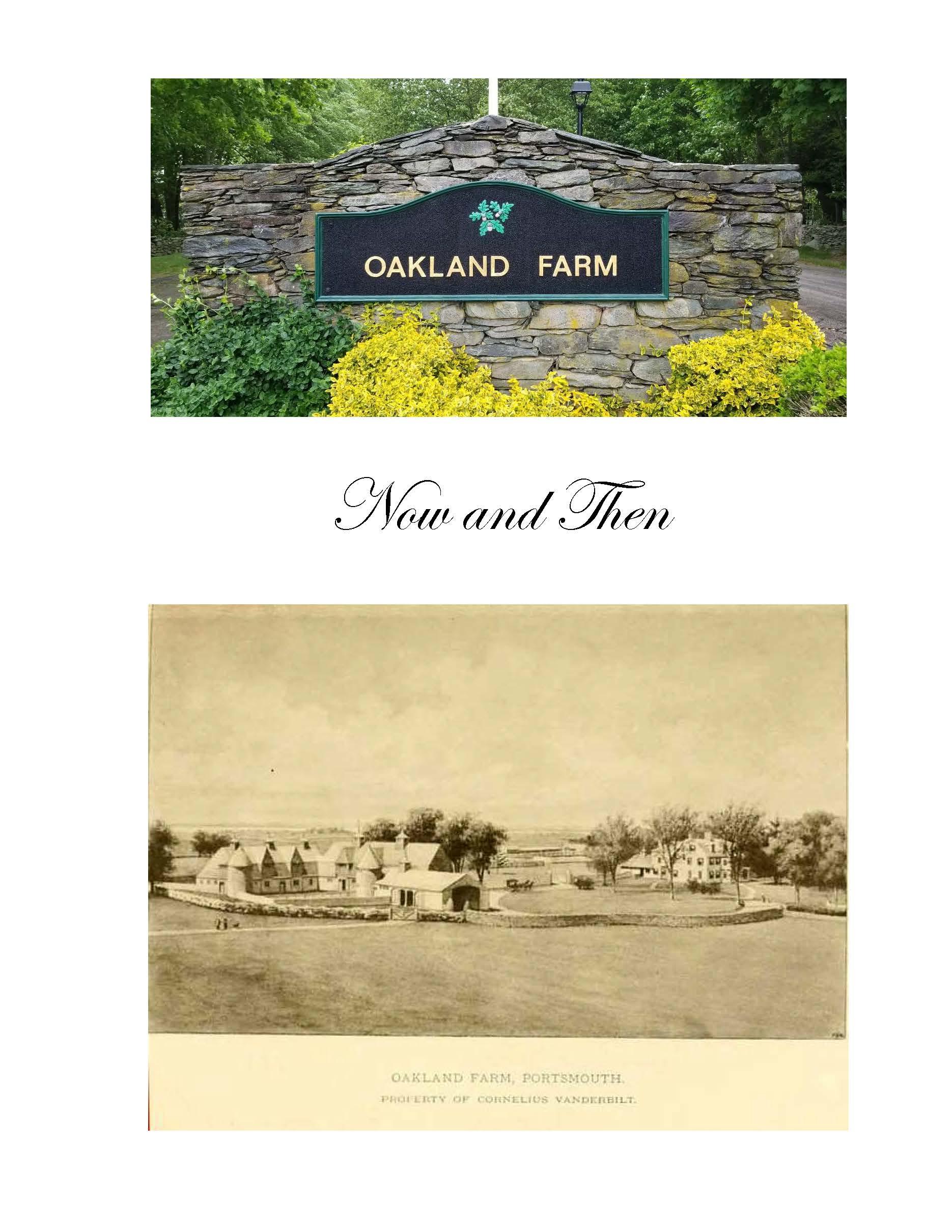 Oakland Farm History